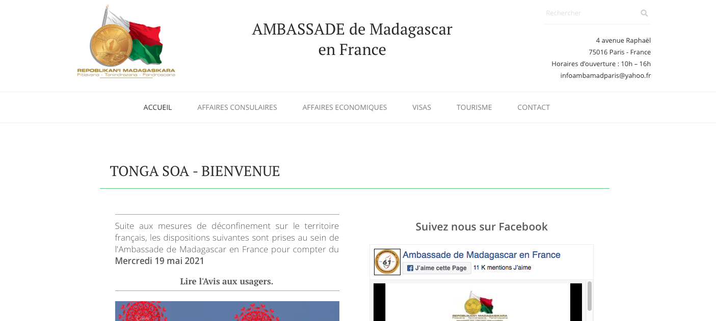 Ambassade de Madagascar en France